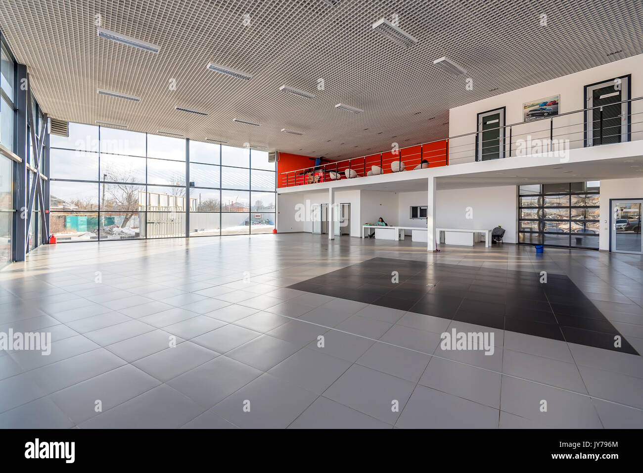 Interior Of Empty Car Dealership Stock Photo 154439564 Alamy