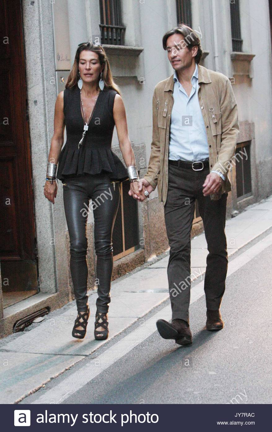 Fiona Swarovski And Karl Heinz Grasser Fiona Swarovski And Karl Heinz Grasser Out And About In Milan