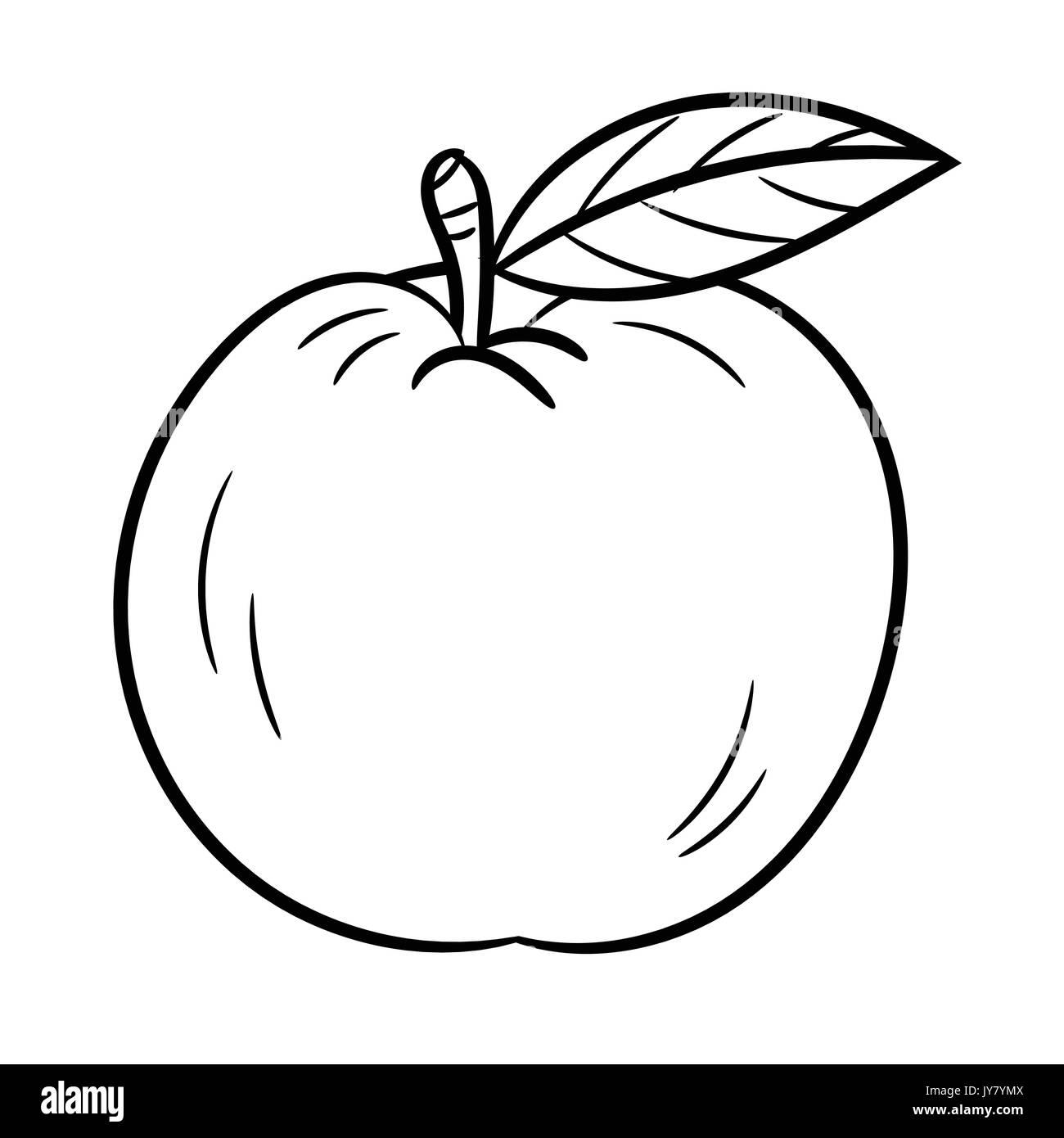cartoon apple black and white stock photos u0026 images alamy