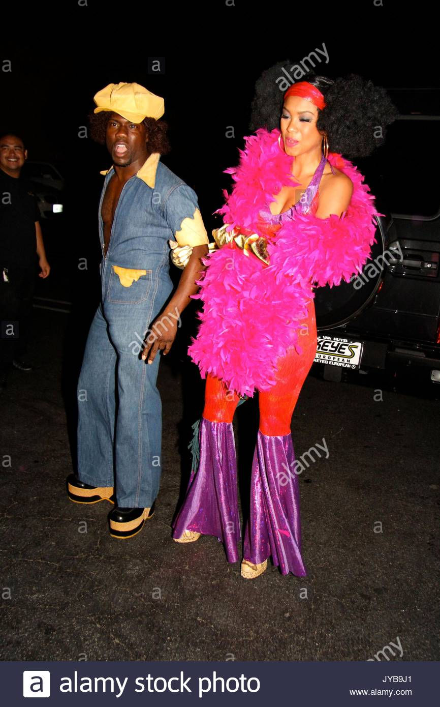 kevin hart a few celebs attend the rihannas halloween party held at the greystone manor supperclub in west holywood the guest on the pictures lindsay