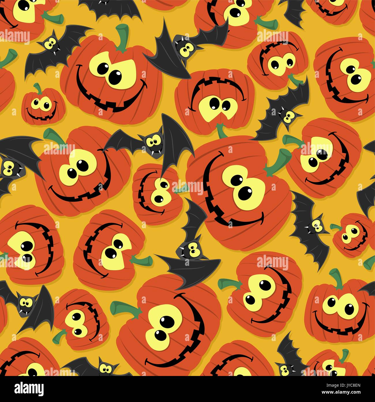 funny seamless pattern background for halloween themes with bats and