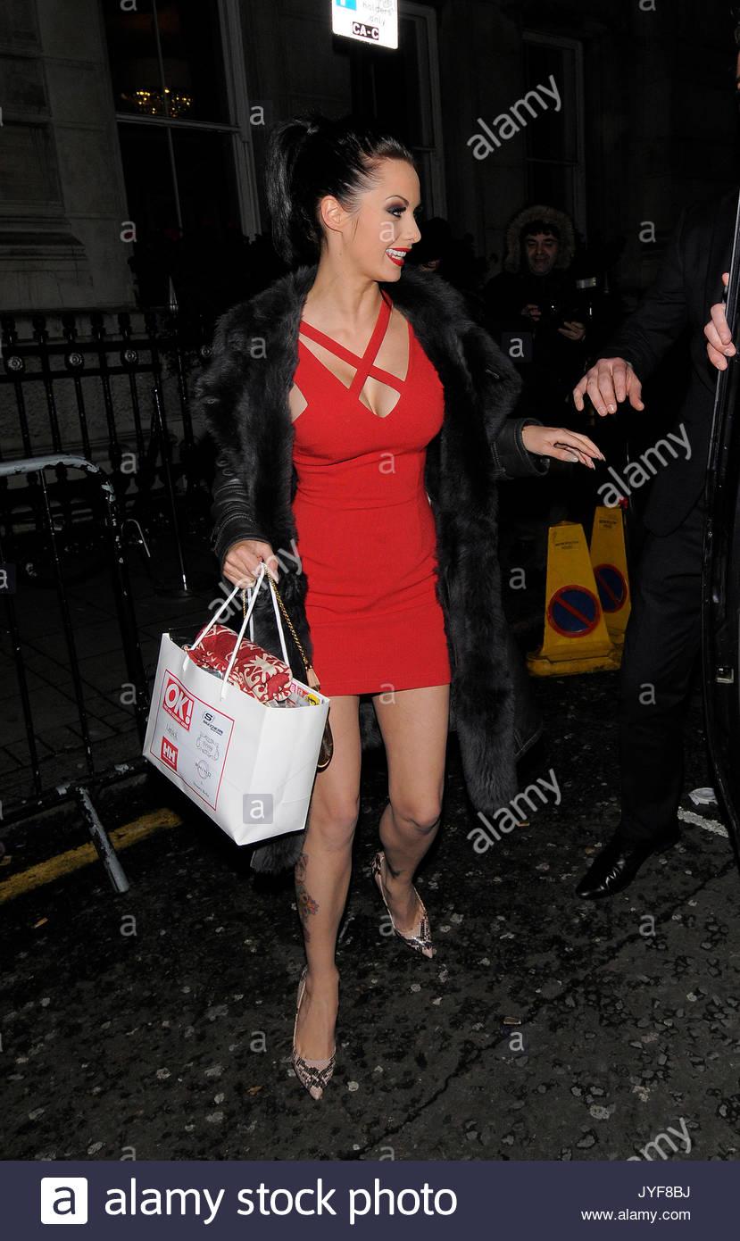 Jessica Jane Clement. Celebrities attend the OK! Magazine Christmas ...