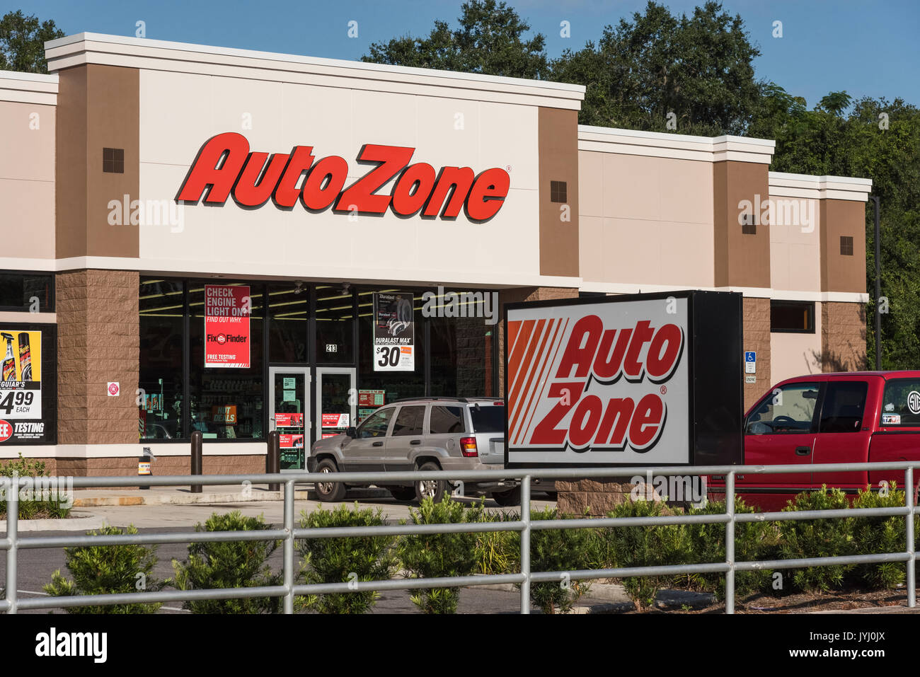 AutoZone Store In Lady Lake, Florida USA