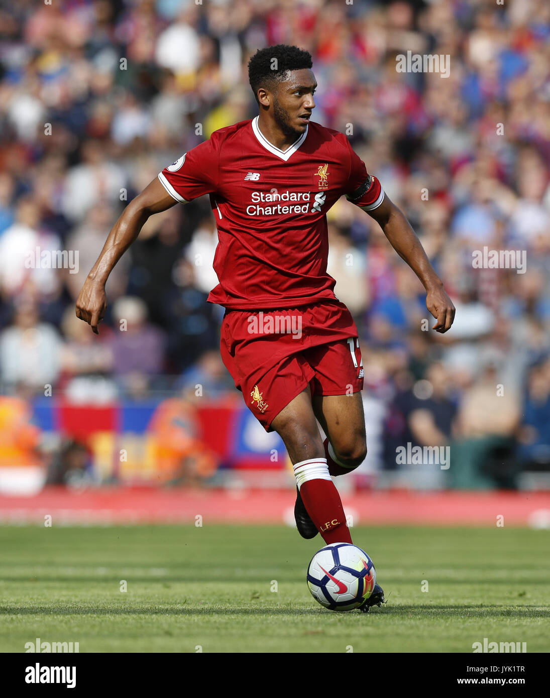 Liverpool's Joe Gomez during the Premier League match at ...