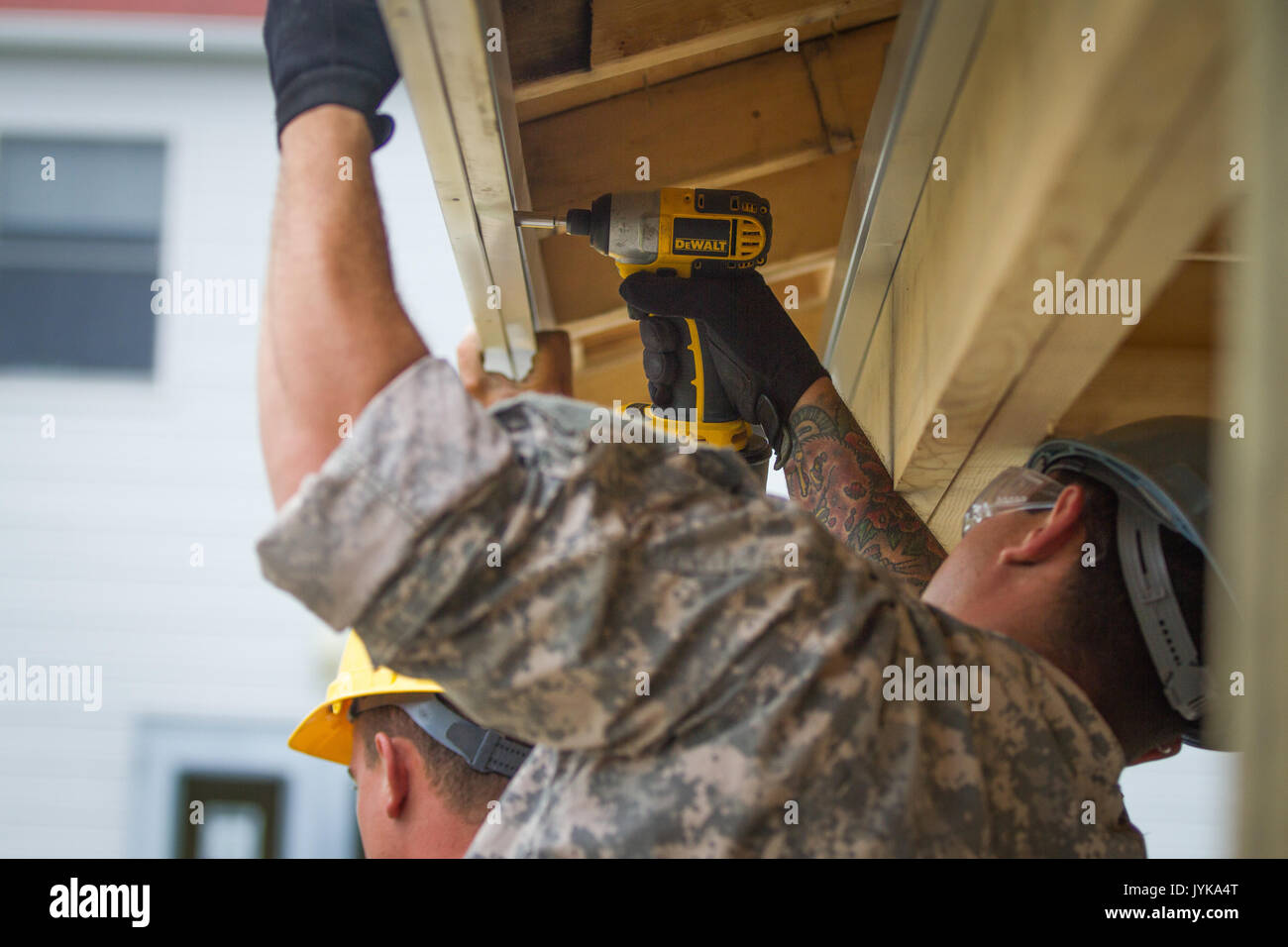 833rd aero squadron - U S Army Spc Timoteo Fademholz 486th Engineering Company Works On The Installation Of