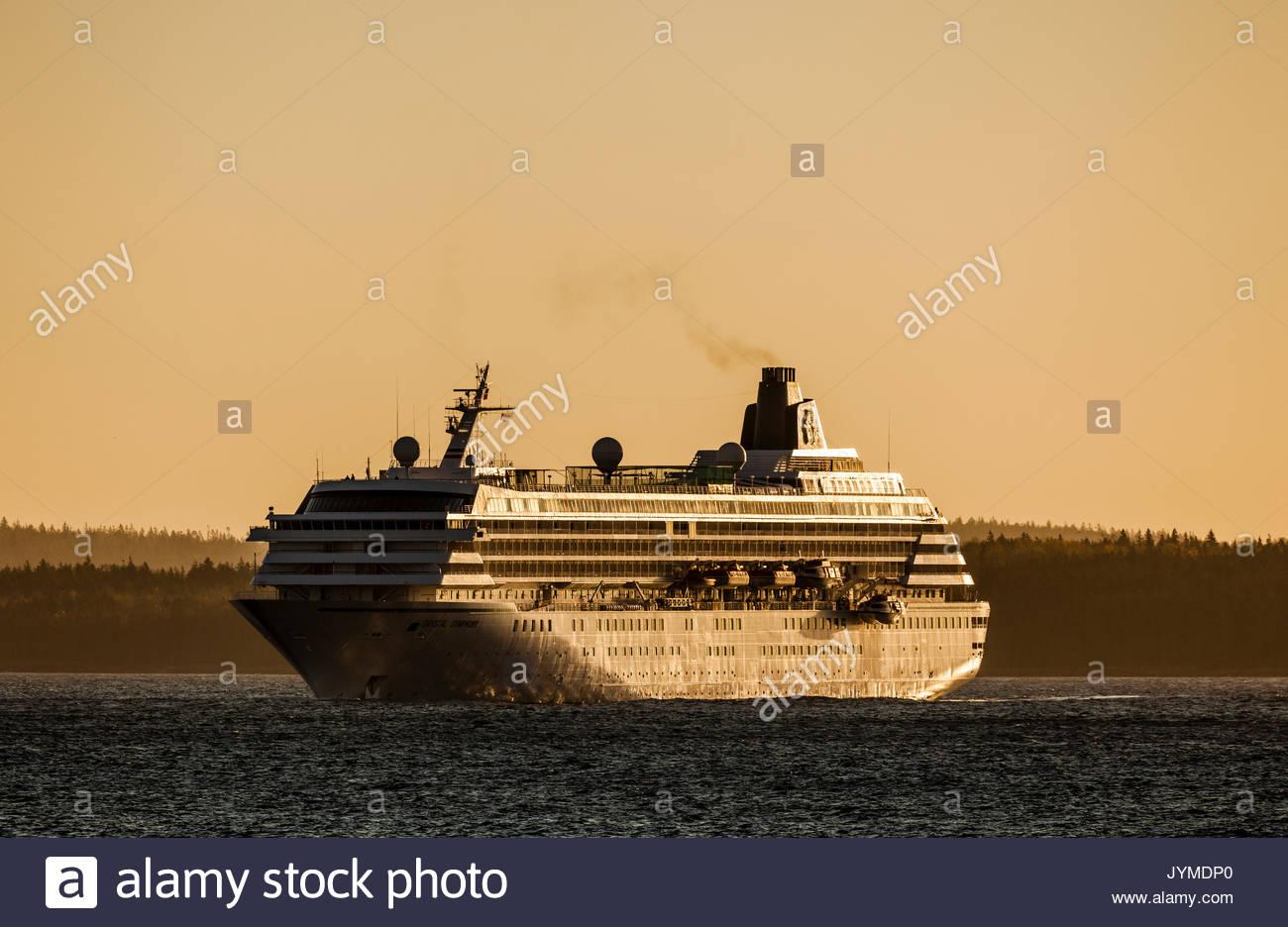 Cruise Ship Bar Harbor Maine USA Stock Photo Royalty Free Image - Cruise ship bar harbor