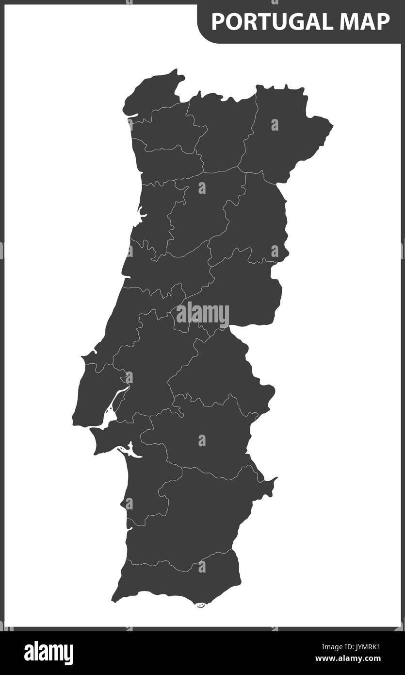 Portugal Map Black And White Stock Photos Images Alamy - Portugal map black and white