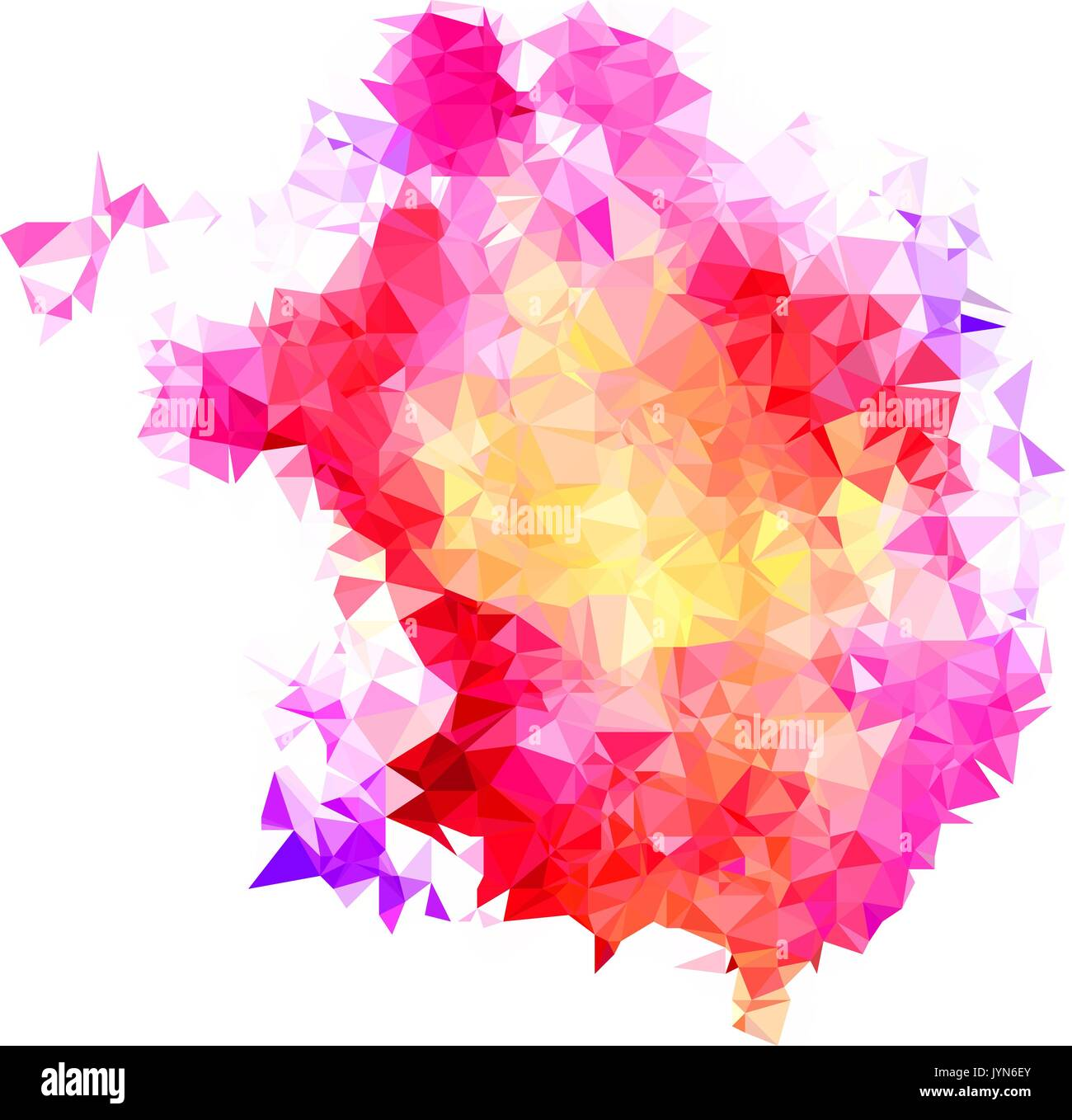 Abstract Color Splash Shape Triangulated Geometric Low Poly Stock