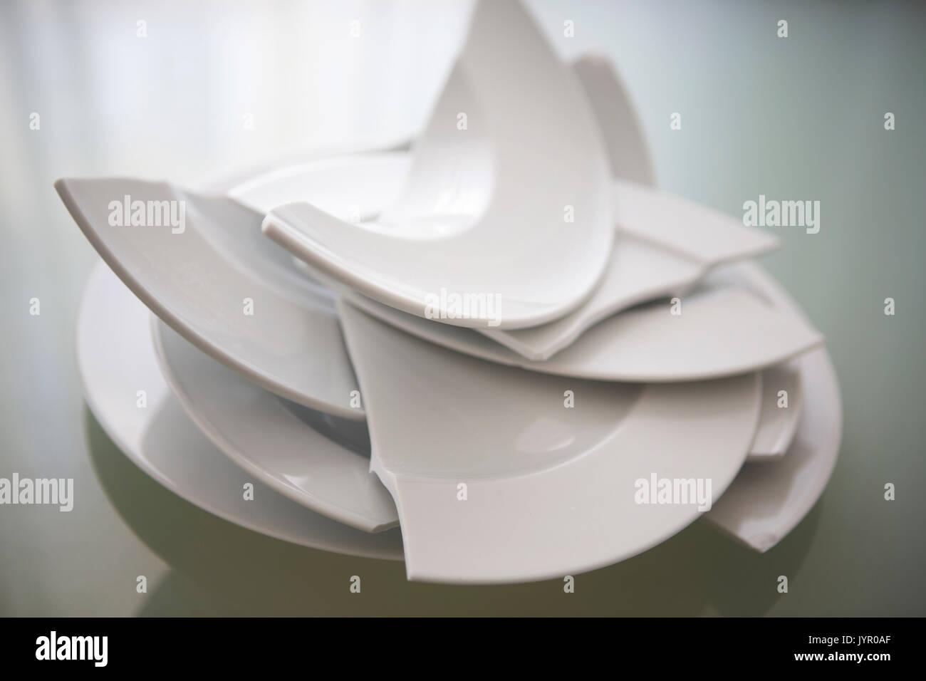 Plate smashing stock photos plate smashing stock images - Pile plate 3v ...
