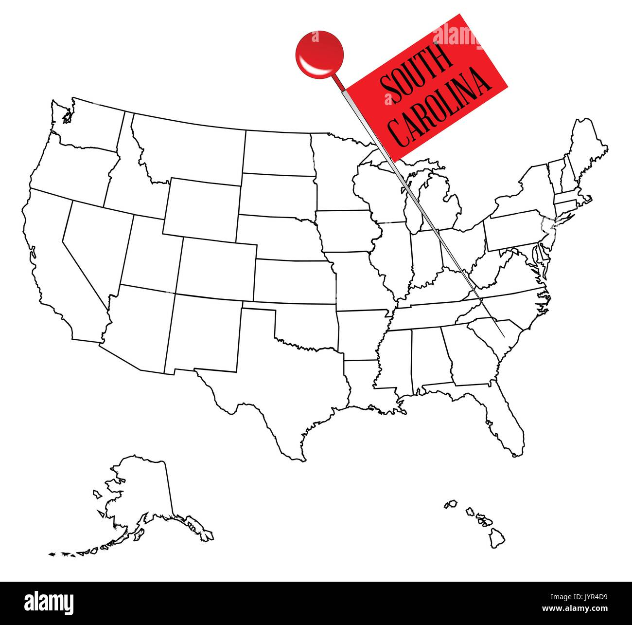 South Carolina Map Cut Out Stock Images Pictures Alamy