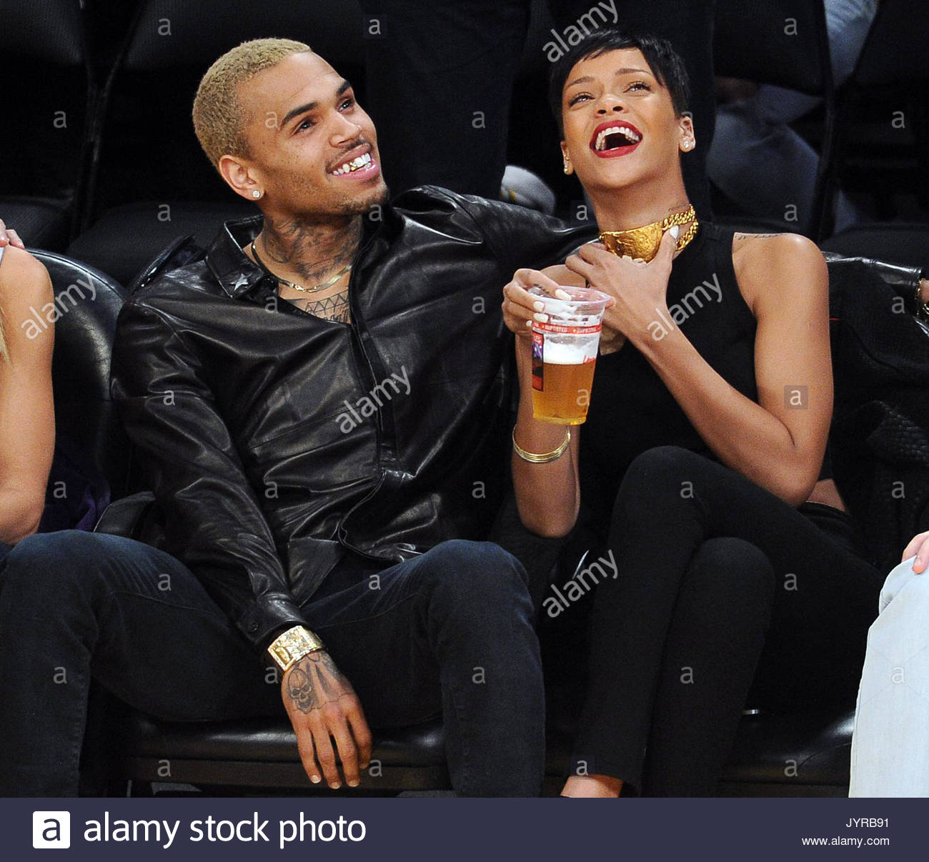 Rihanna and Chris Brown. Rihanna and Chris Brown at the ...