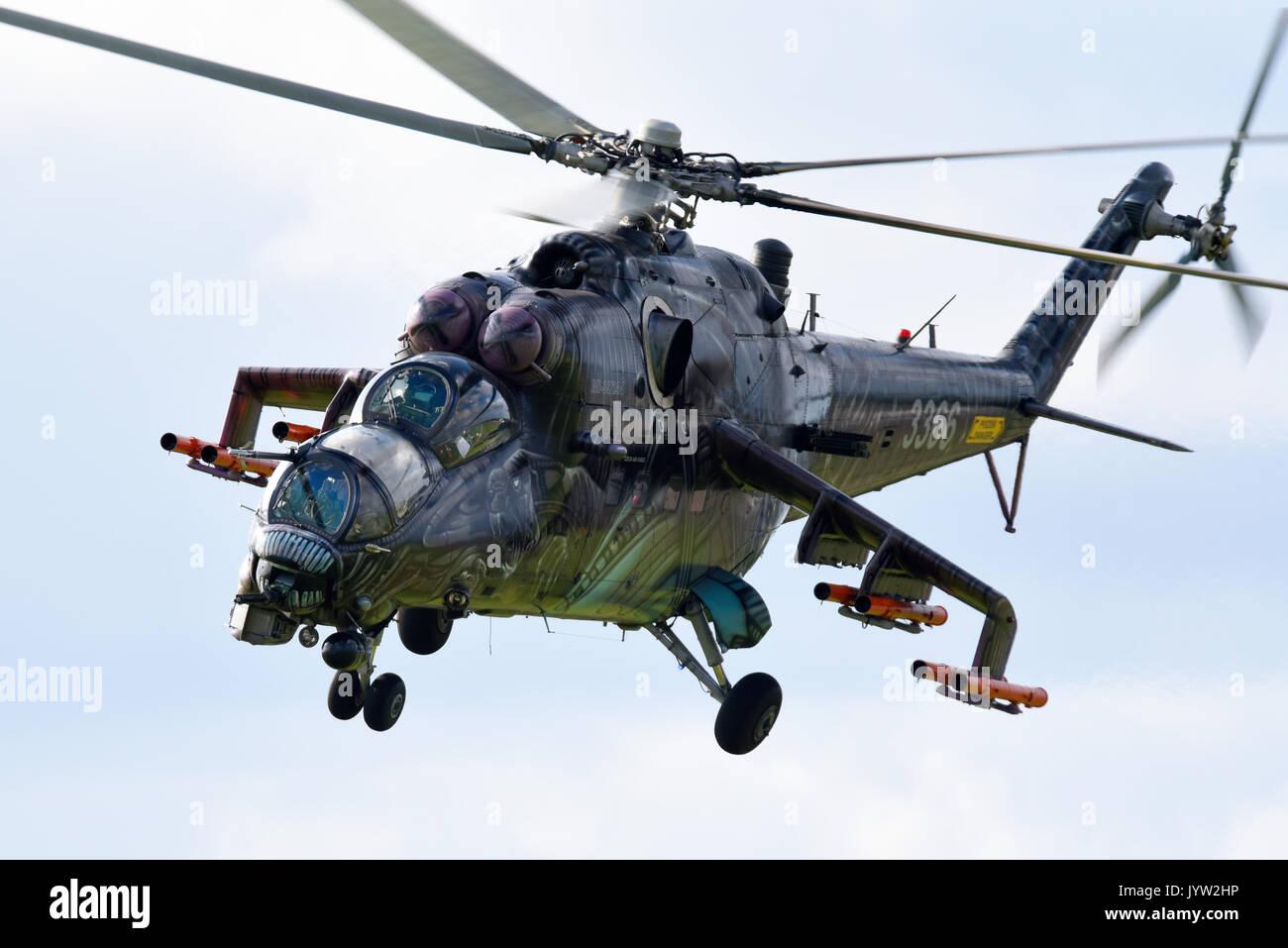mil mi 24 mi 35 hind gunship attack helicopter of czech. Black Bedroom Furniture Sets. Home Design Ideas