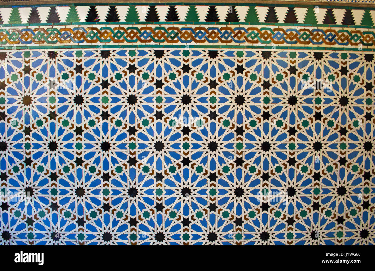 Spain decorated walls of the cloister of mudejar palace of pedro spain decorated walls of the cloister of mudejar palace of pedro i designed in moorish style for a christian ruler part of the alcazar of seville amipublicfo Image collections