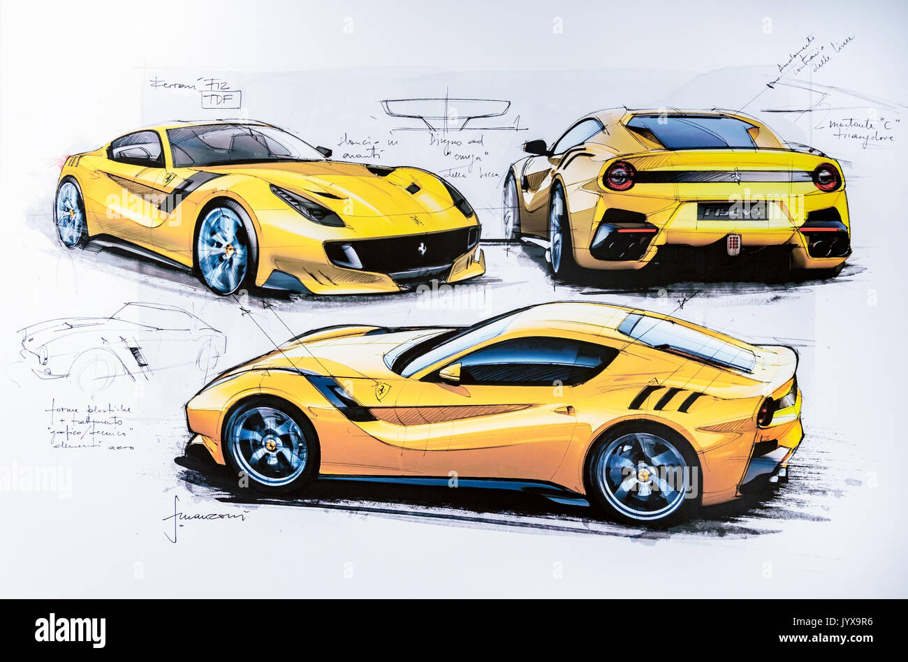 Ferrari F12 Interior >> Ferrari F12 Stock Photos & Ferrari F12 Stock Images - Alamy
