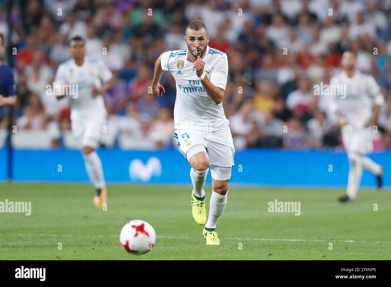 Madrid Spain 16th Aug 2017 Karim Benzema Real Football