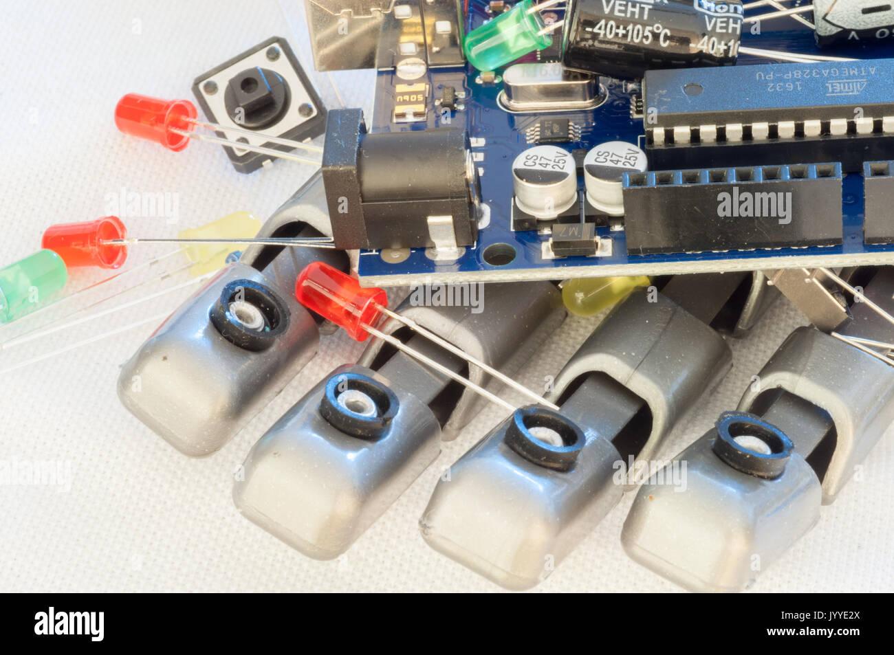 Beautiful Raw Macro Robotics Background Stock Photo 154882418 Alamy