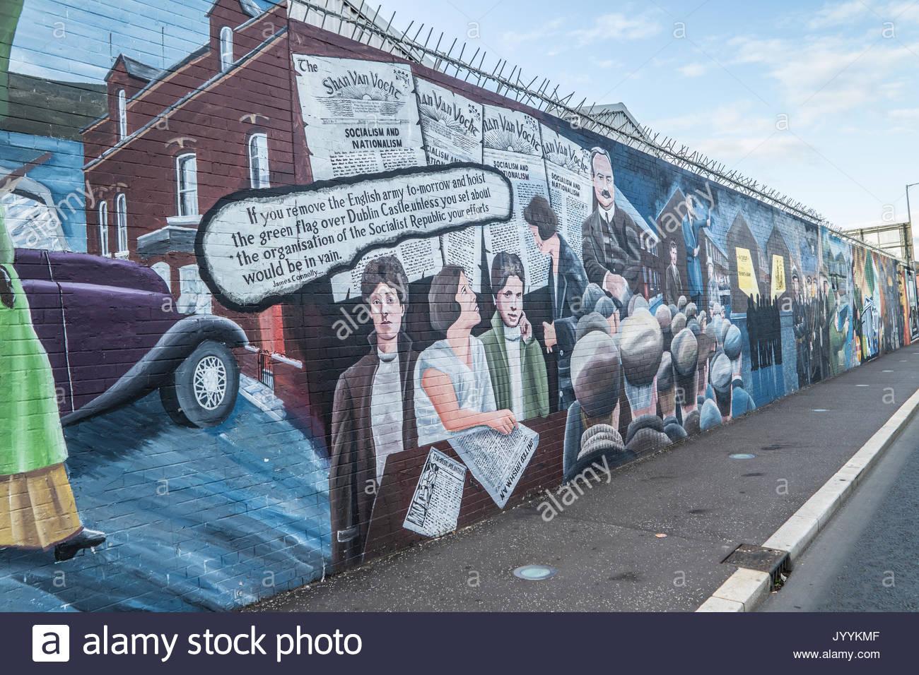 Belfast northern ireland murals in stock photos belfast for Mural in belfast