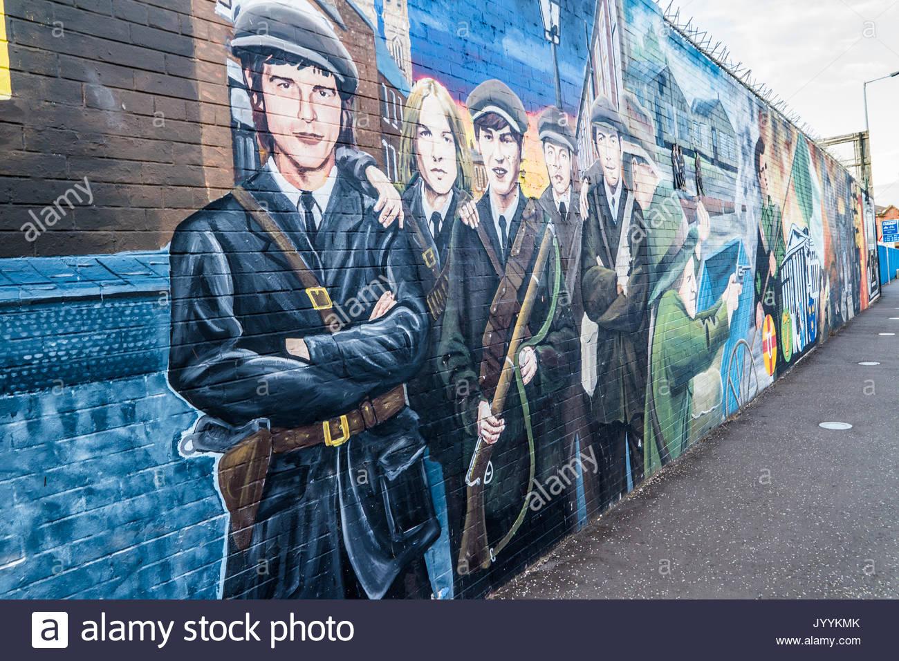Belfast murals stock photos belfast murals stock images for Mural northern ireland