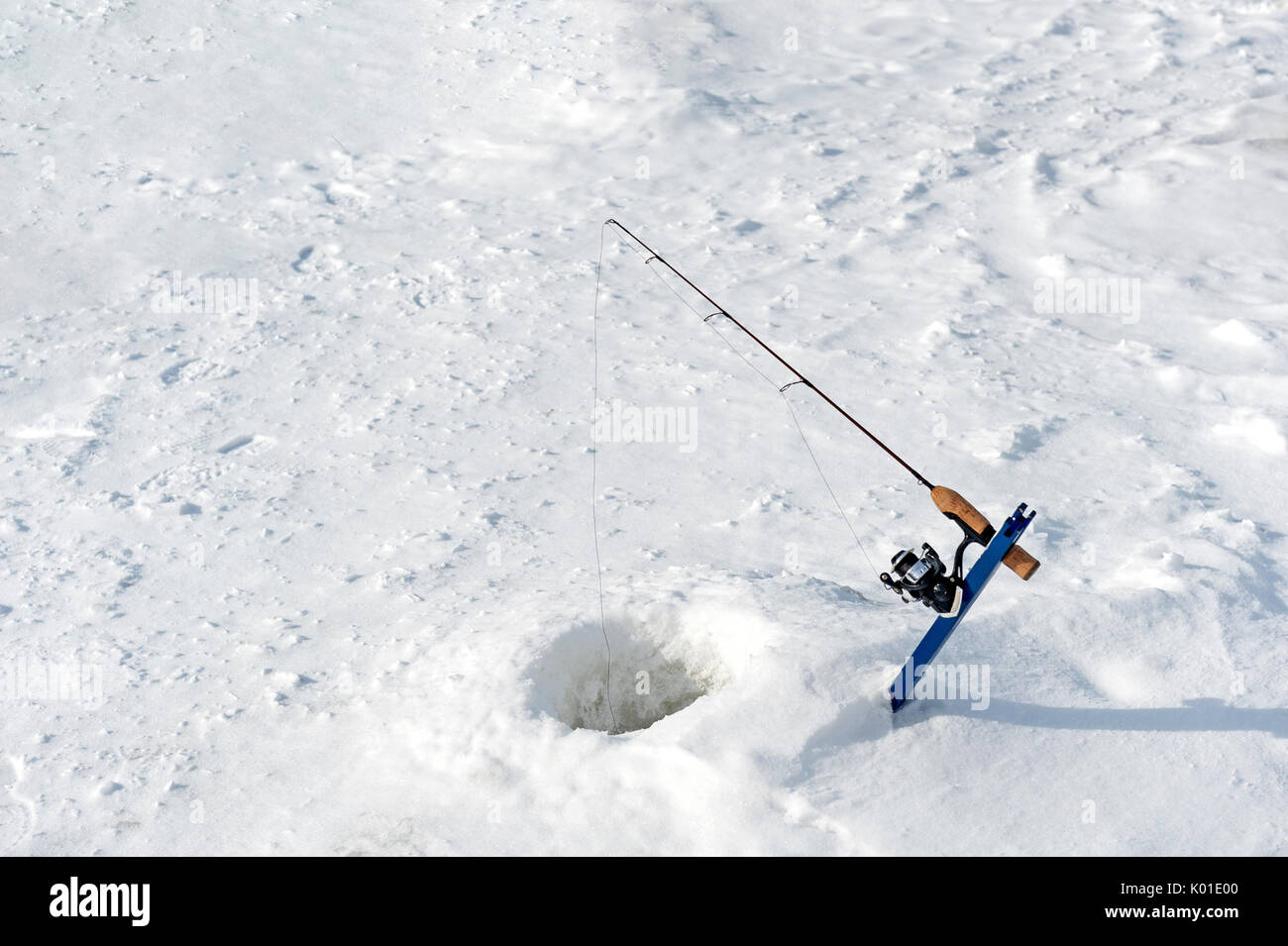 Ice fishing canada stock photos ice fishing canada stock for Ice fishing hole