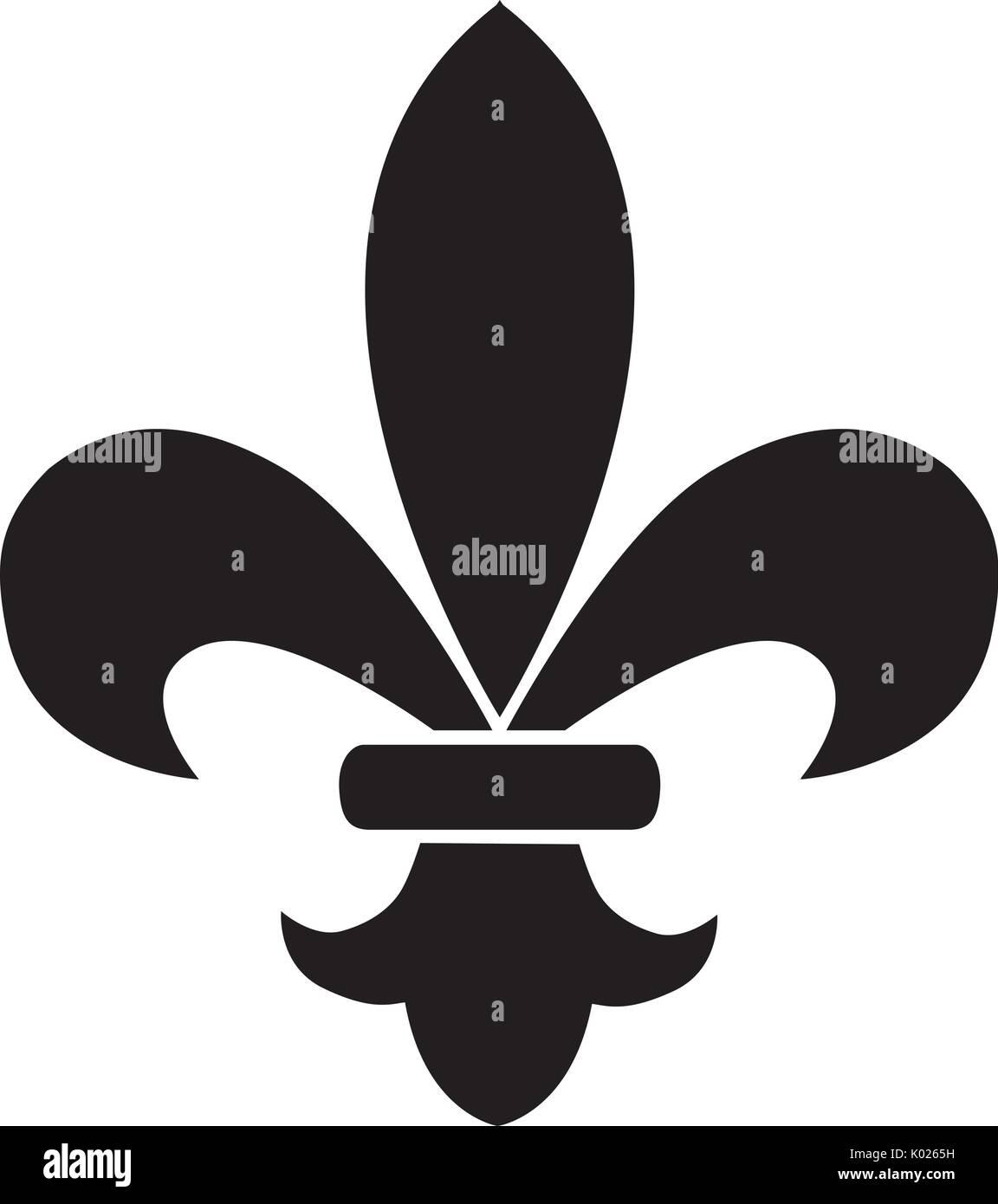 Vector Illustration Of Fleur De Lis Flower Stock Vector Art
