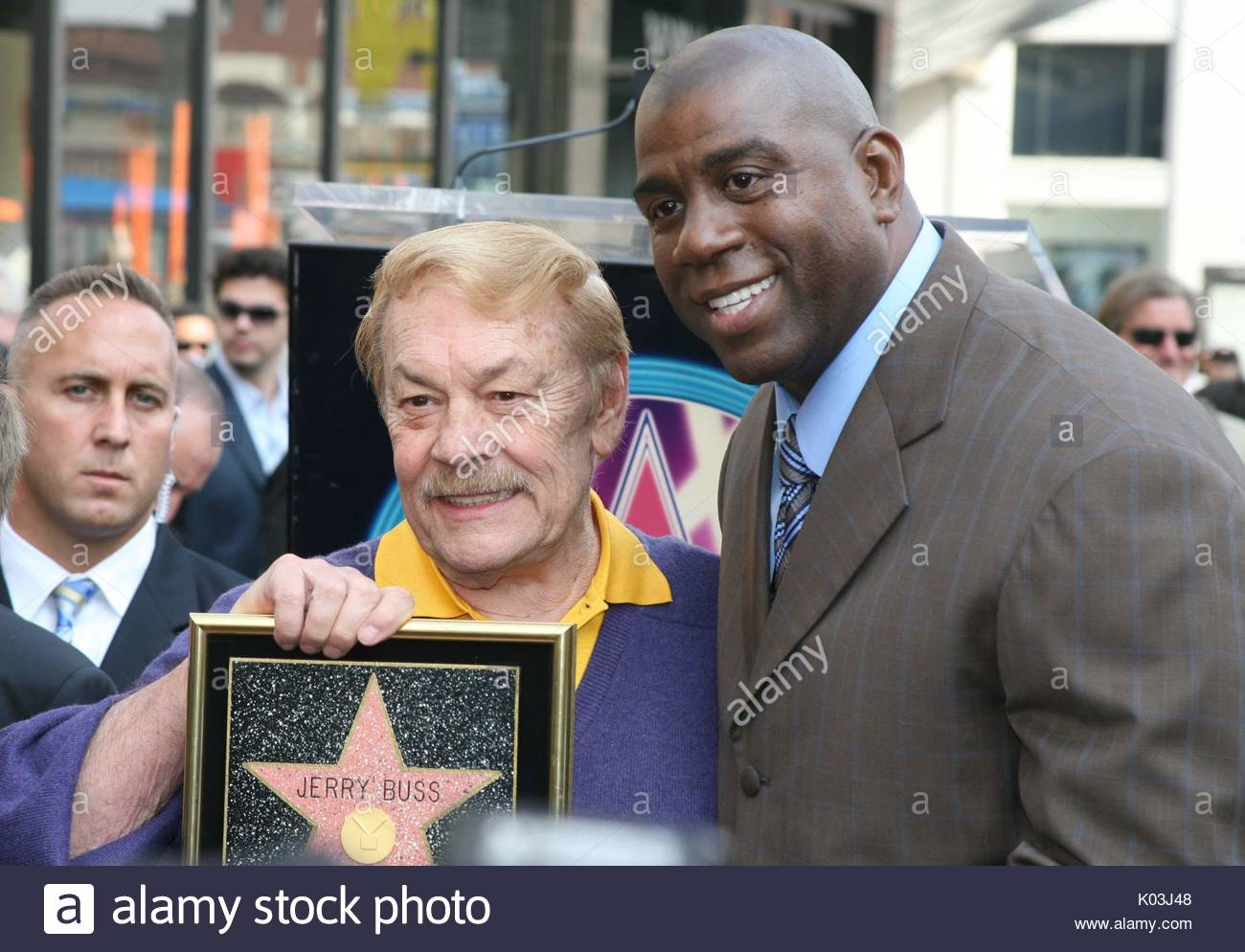Dr Jerry Buss And Erving Magic Johnson Los Angeles Lakers Owner