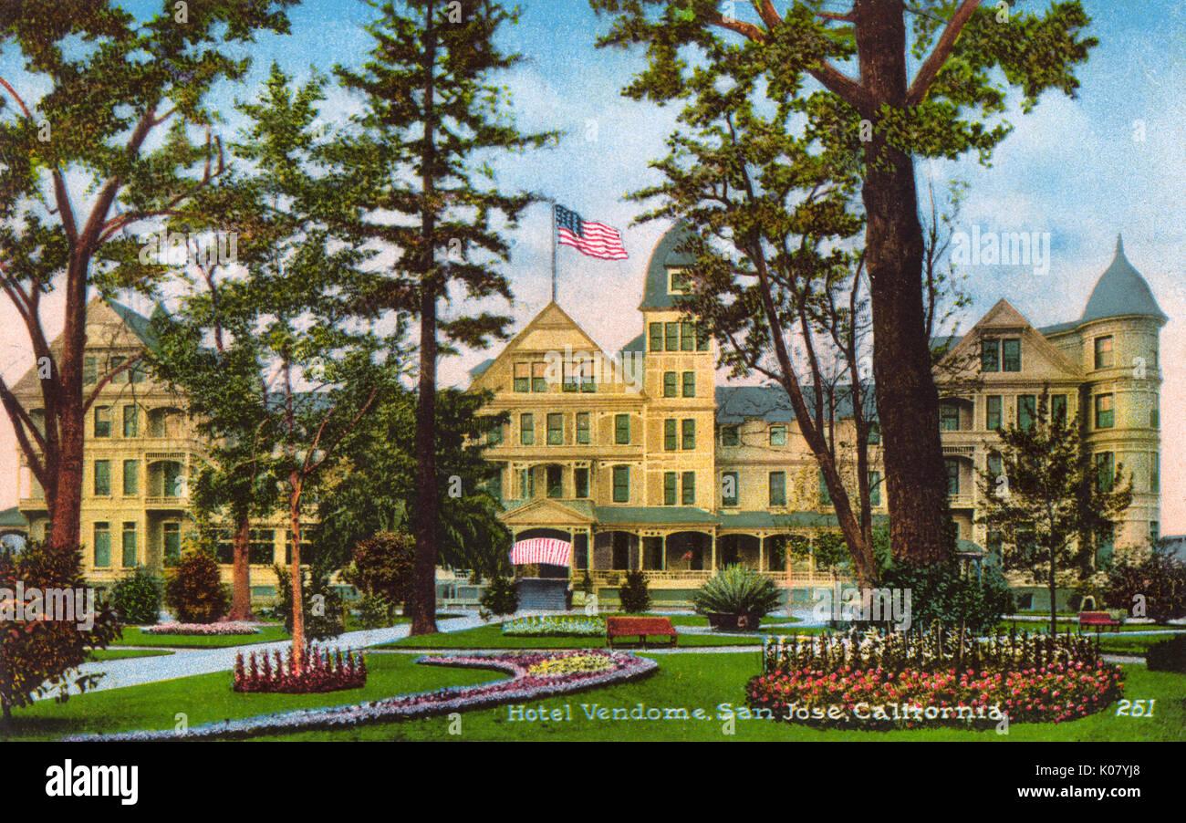 Hotel Vendome, San Jose, Santa Clara County, California, USA Stock ...