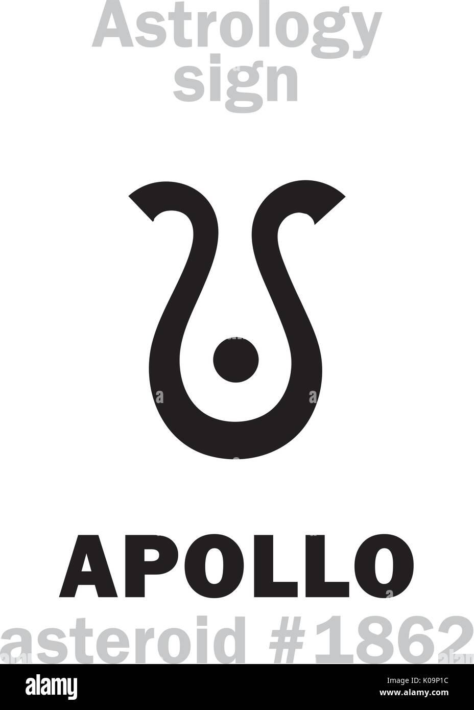 Apollo hermes stock photos apollo hermes stock images alamy astrology alphabet apollo musagetes asteroid 1862 hieroglyphics character sign biocorpaavc