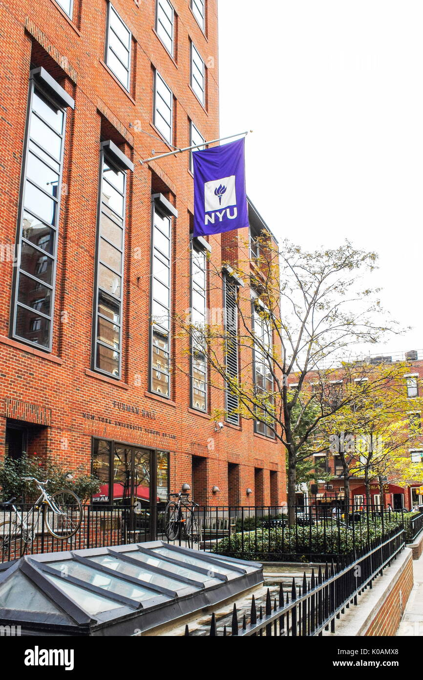 New York, USA   September 27, 2016: NYU   New York University School