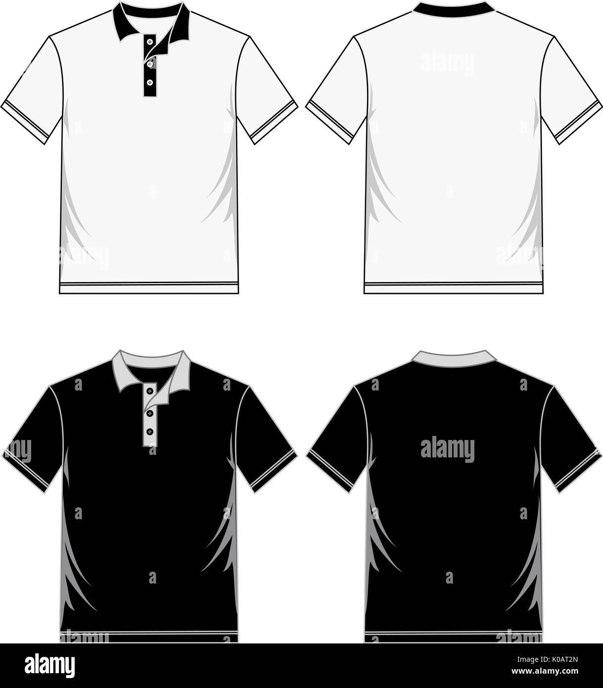 Shirt Template Black White Vector Image Stock Vector Art