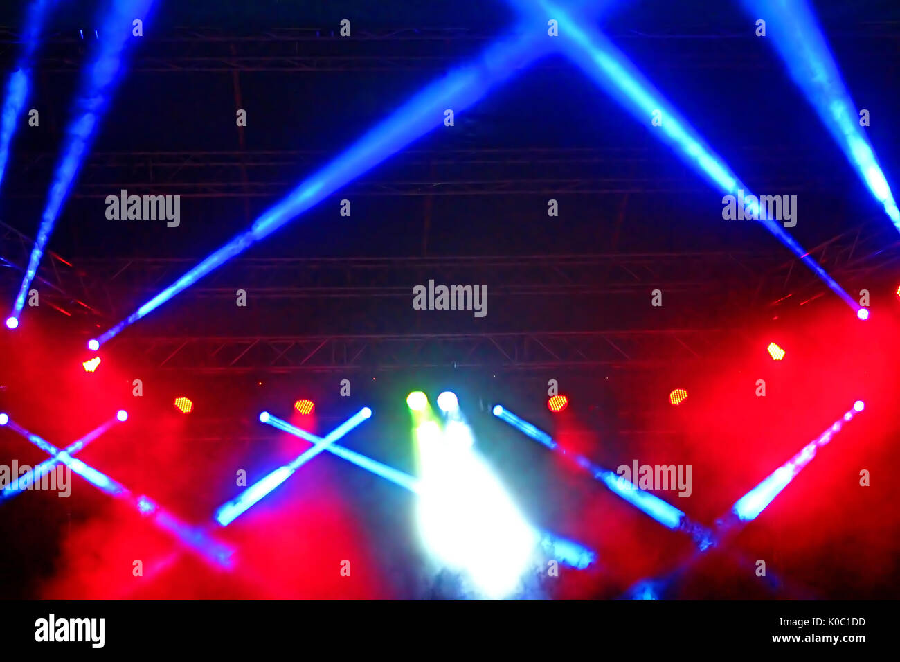 Stage Spotlight with rays. Concert lighting background Stock Photo ... for Concert Stage Lights Background  1lp1fsj