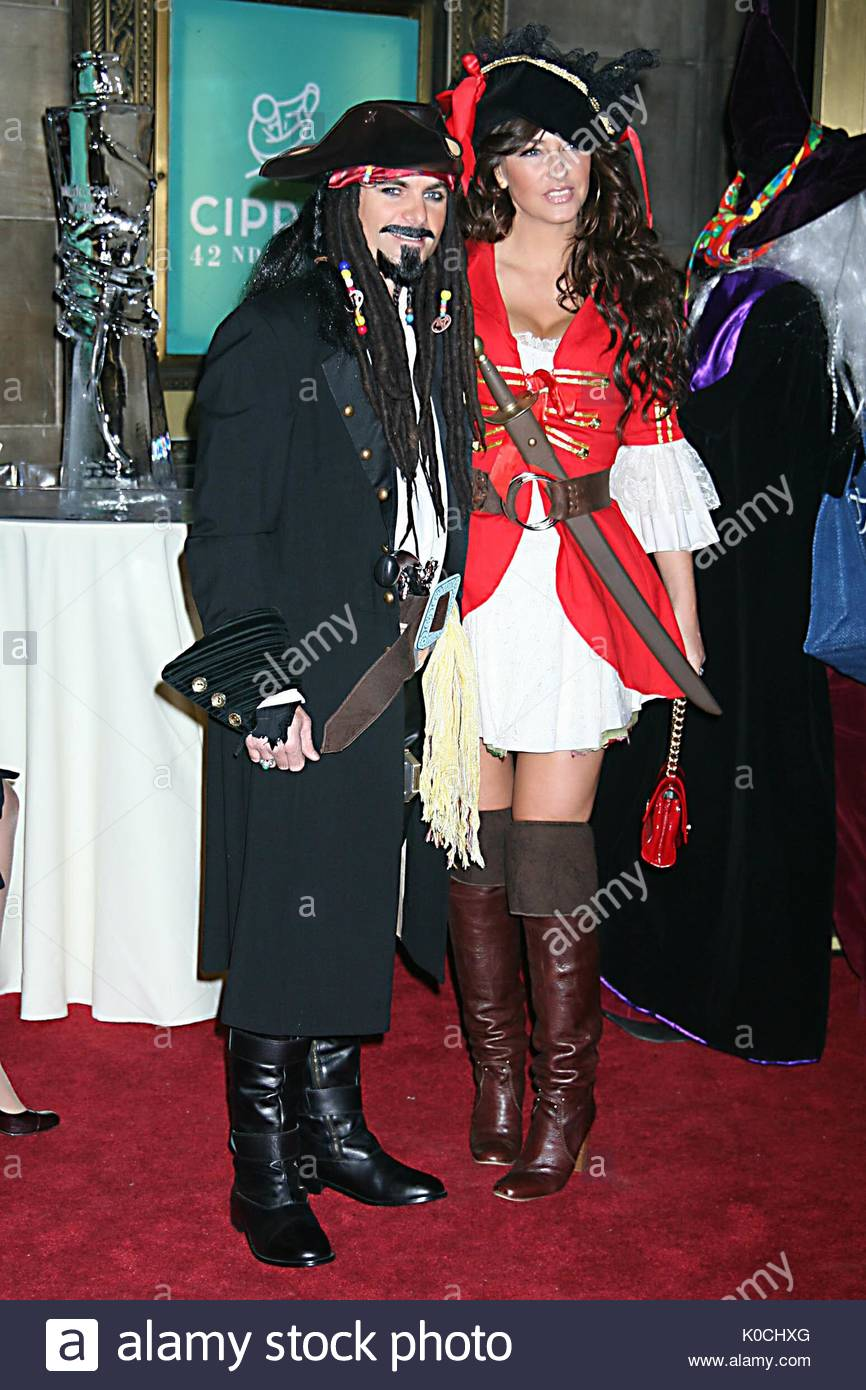 jeff gordon and ingrid vandebosch at roberto cavallis halloween party held at cipriani in nyc