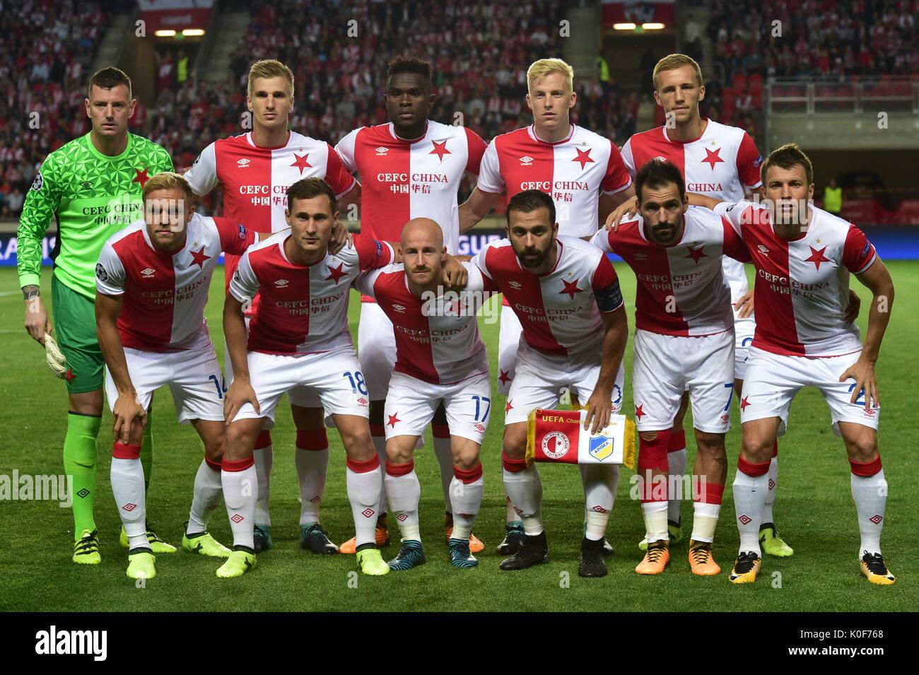 Sk Slavia Image: SK Slavia Prague Team Pose Prior To The Fourth Round UEFA