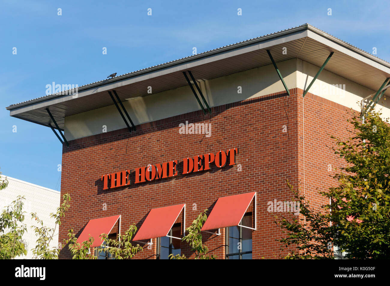The Home Depot Store In Village At Park Royal Shopping Center West Vancouver BC Canada