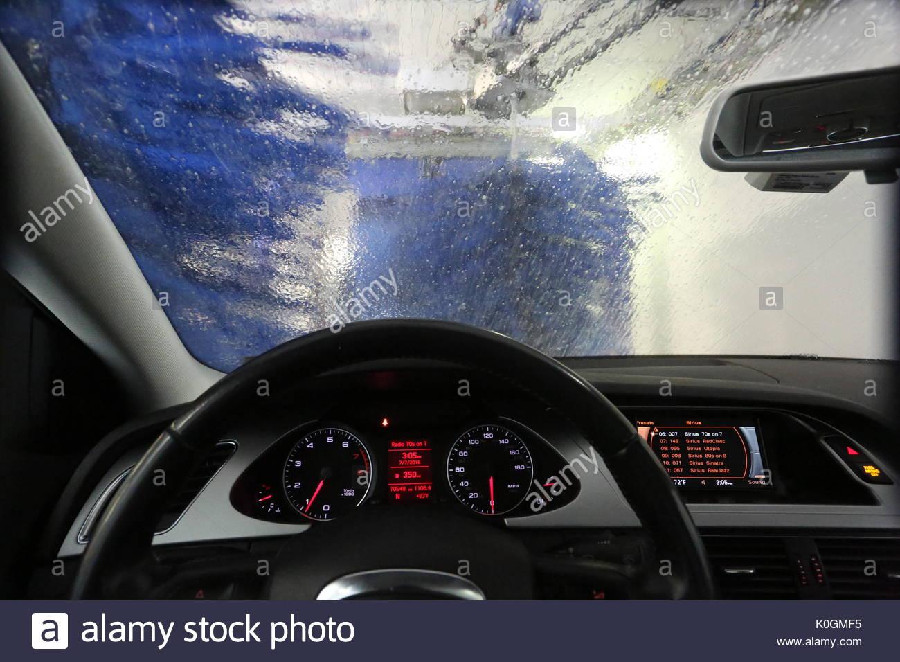 An Audi Automobile Going Through A Car Wash At Warwick Car Wash - Audi car wash
