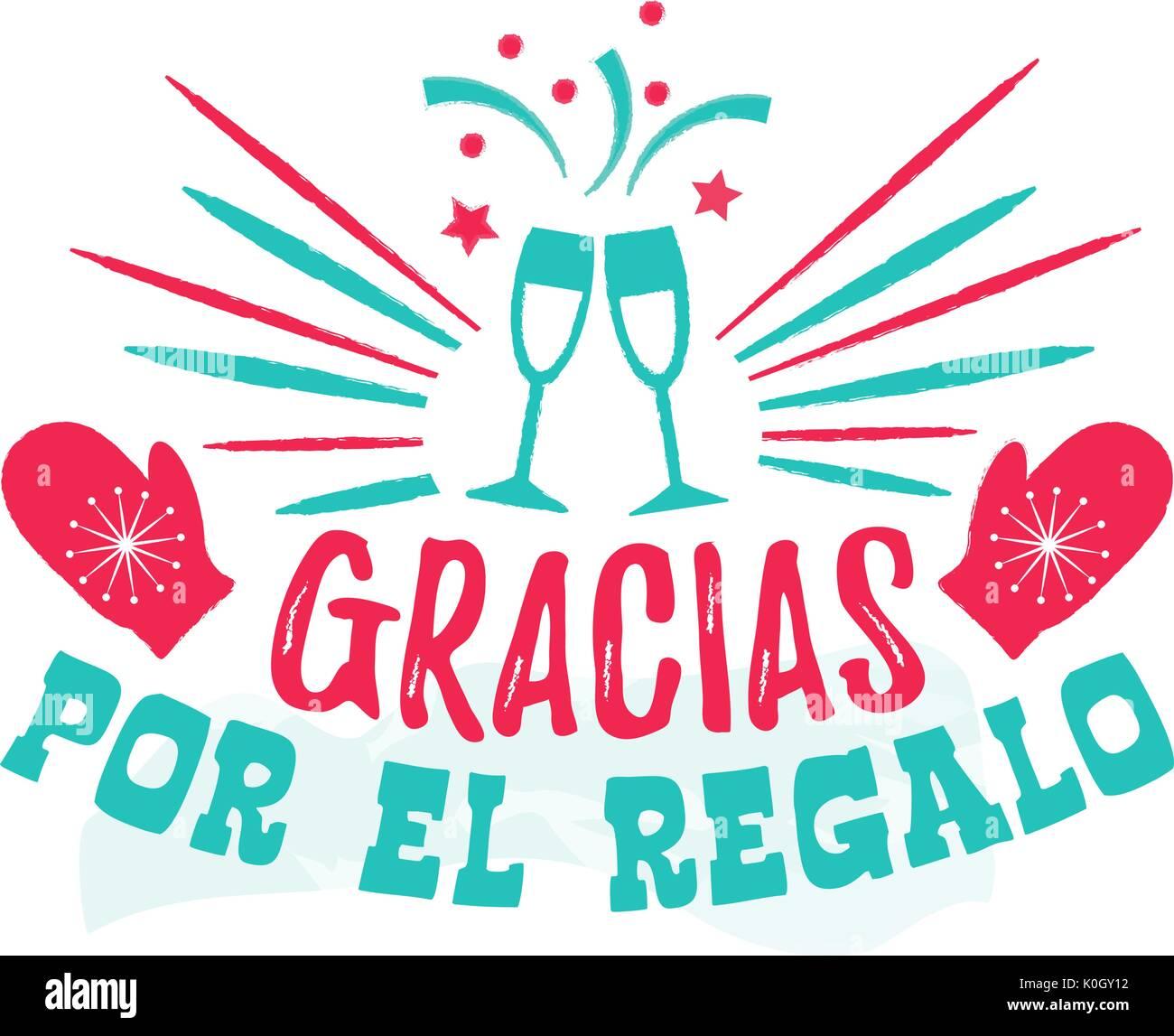 Spanish greeting card stock photos spanish greeting card stock thank you for the gift spanish language stock image kristyandbryce Choice Image