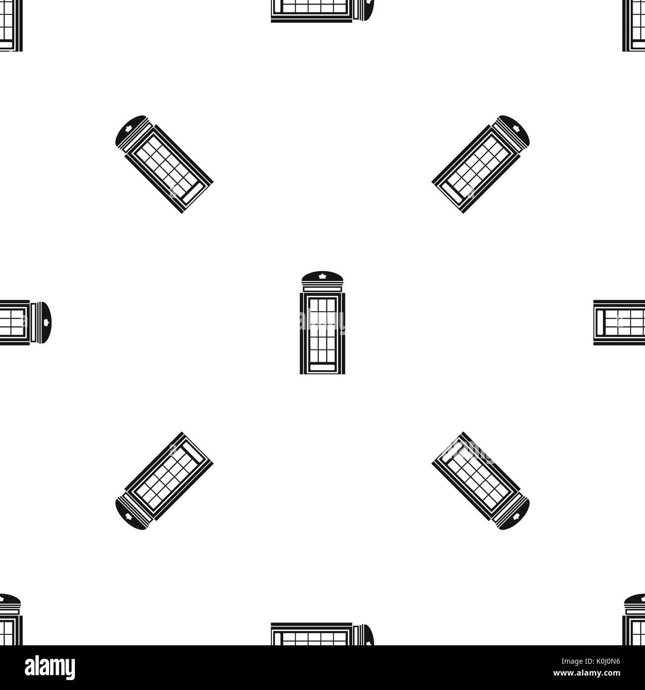 phone booth pattern seamless black stock vector art illustration rh alamy com