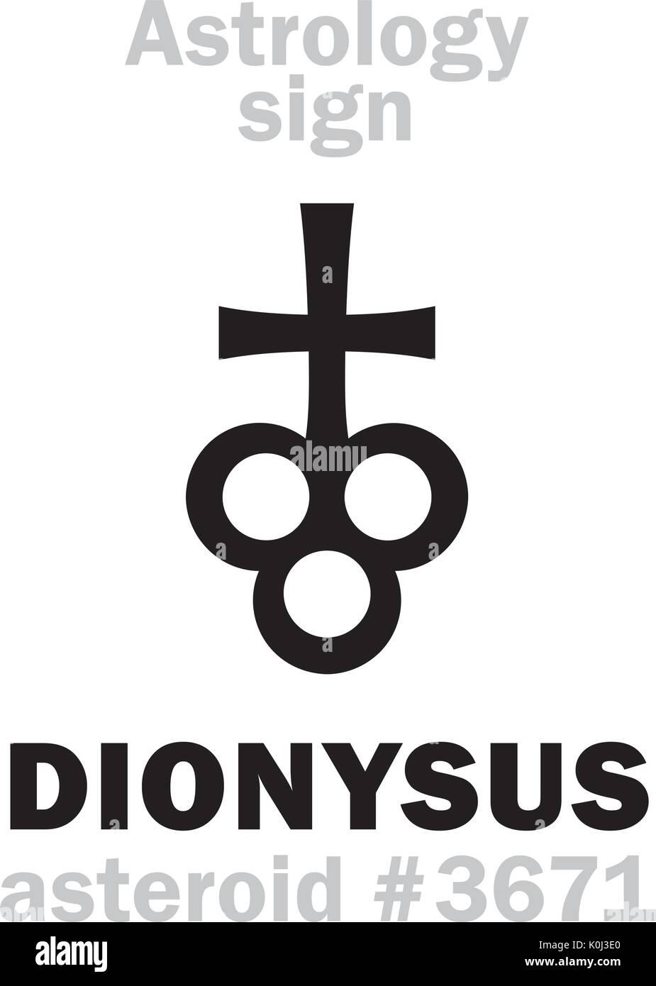 Dionysus stock vector images alamy astrology alphabet dionysus asteroid 3671 hieroglyphics character sign single symbol buycottarizona