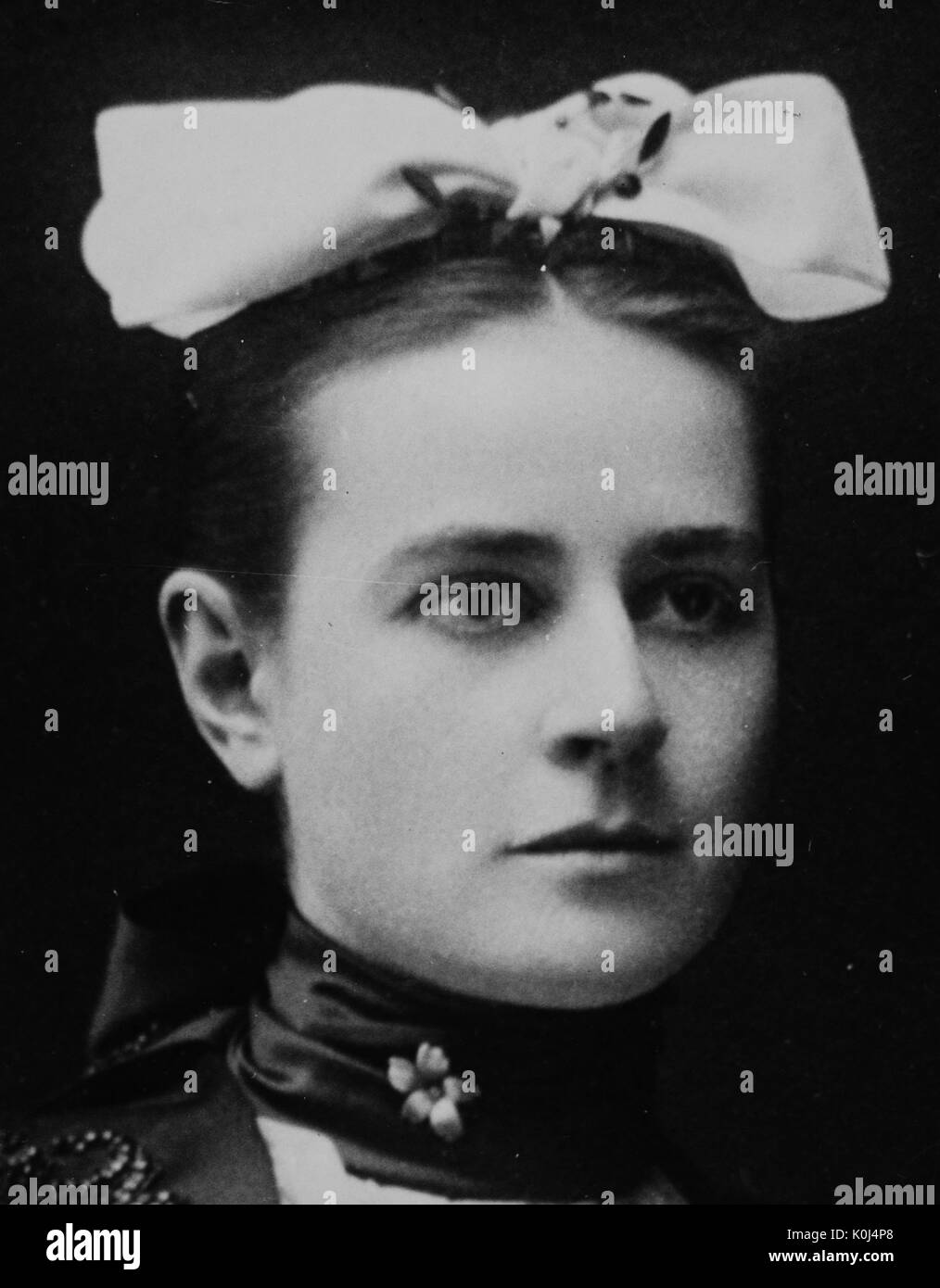 Detail photograph of the portrait of a woman on a mural containing portraits of the famous beauties of baltimore in shriver hall on the homewood campus of