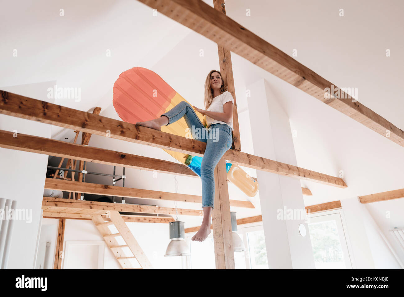 ceiling joist stock photos & ceiling joist stock images - alamy