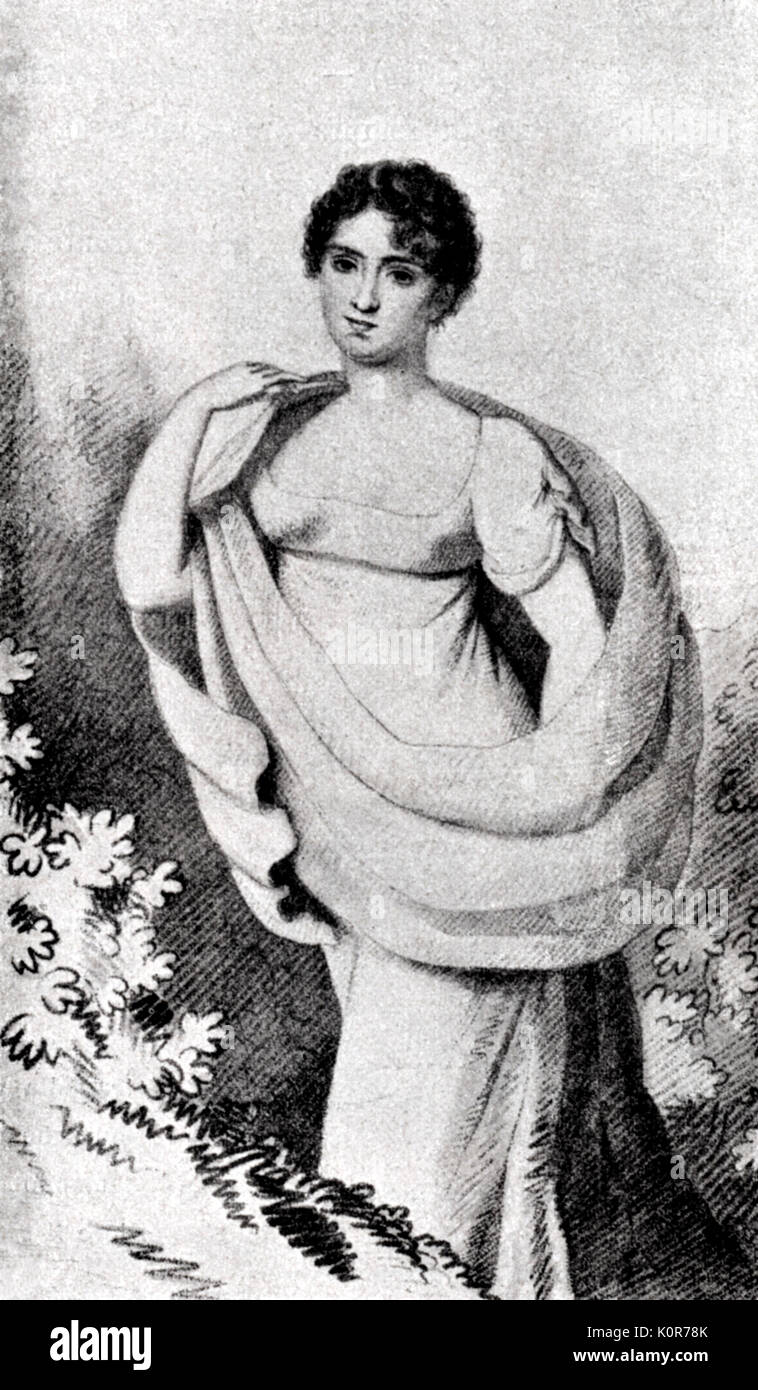 Colbran Isabella Spanish Soprano 1785 1845 Isabella Colbran Married Rossini In 1822 She Created Leading Soprano Roles In A Number Of His Operas