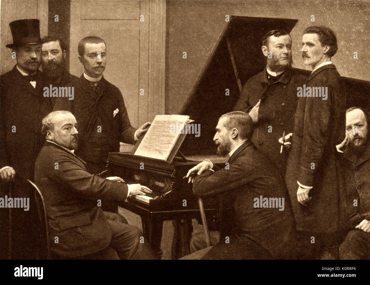 CHABRIER Emmanuel At Piano 1885 By Fantin Latour This Group Was