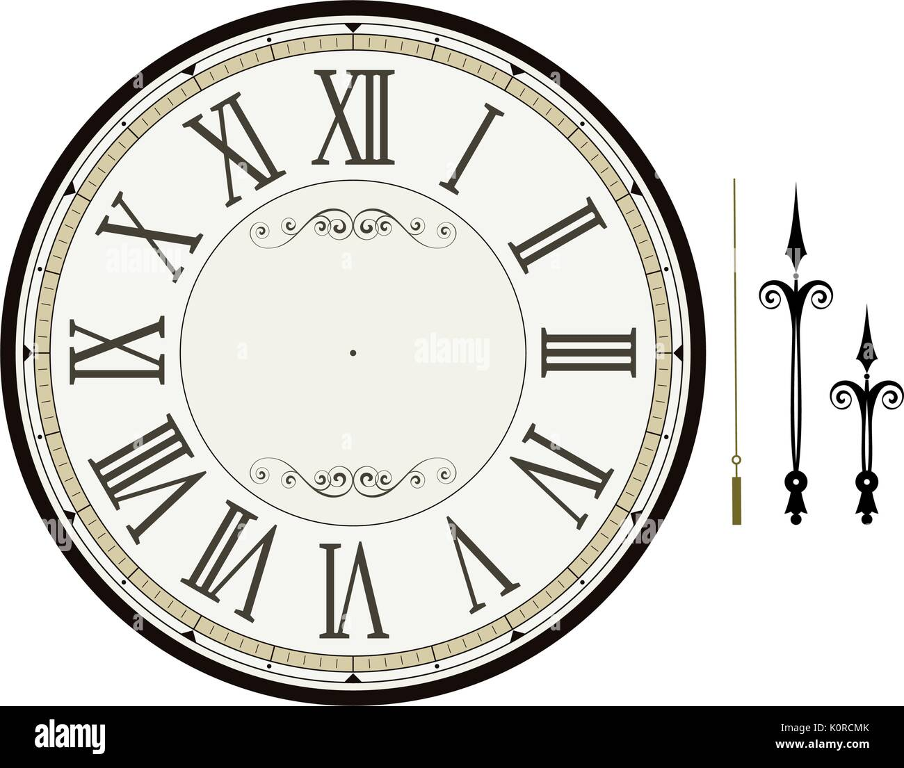 worksheet Clock Face Template vintage clock face template with hour minute and second hands to stock vector make your own time isolated on white background