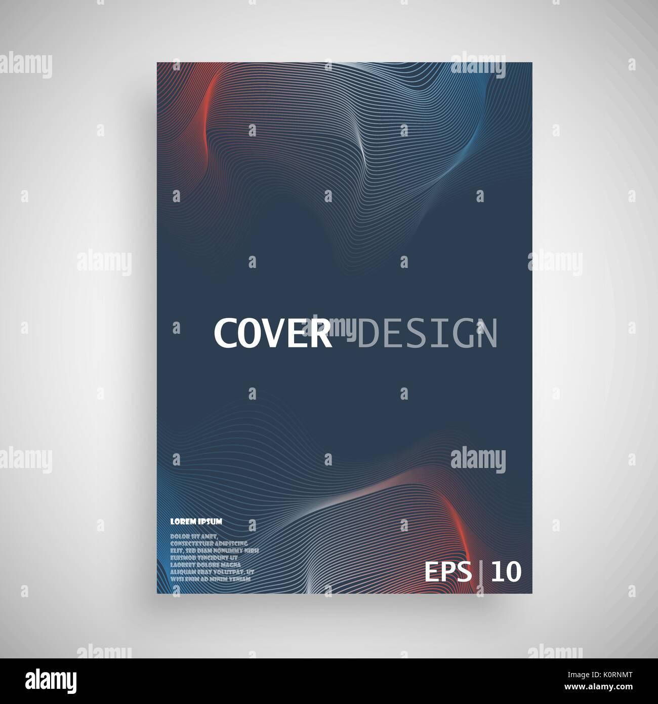 minimal vector covers design future poster template stock vector