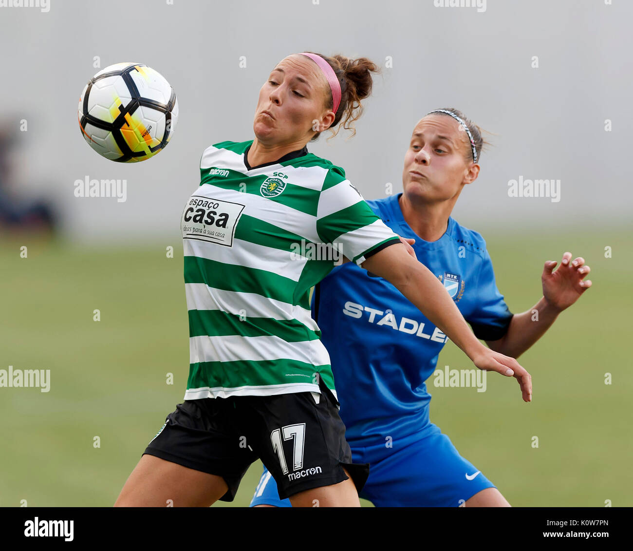 Budapest Hungary 25th August 2017 Ana Leite 17 of Sporting CP