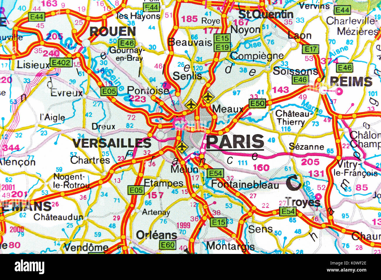 Map of city of paris