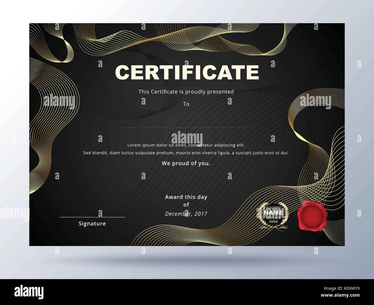 Elegant appreciation certificate template design stock photos certificate template design with simple concept business certificate design stock image xflitez Images