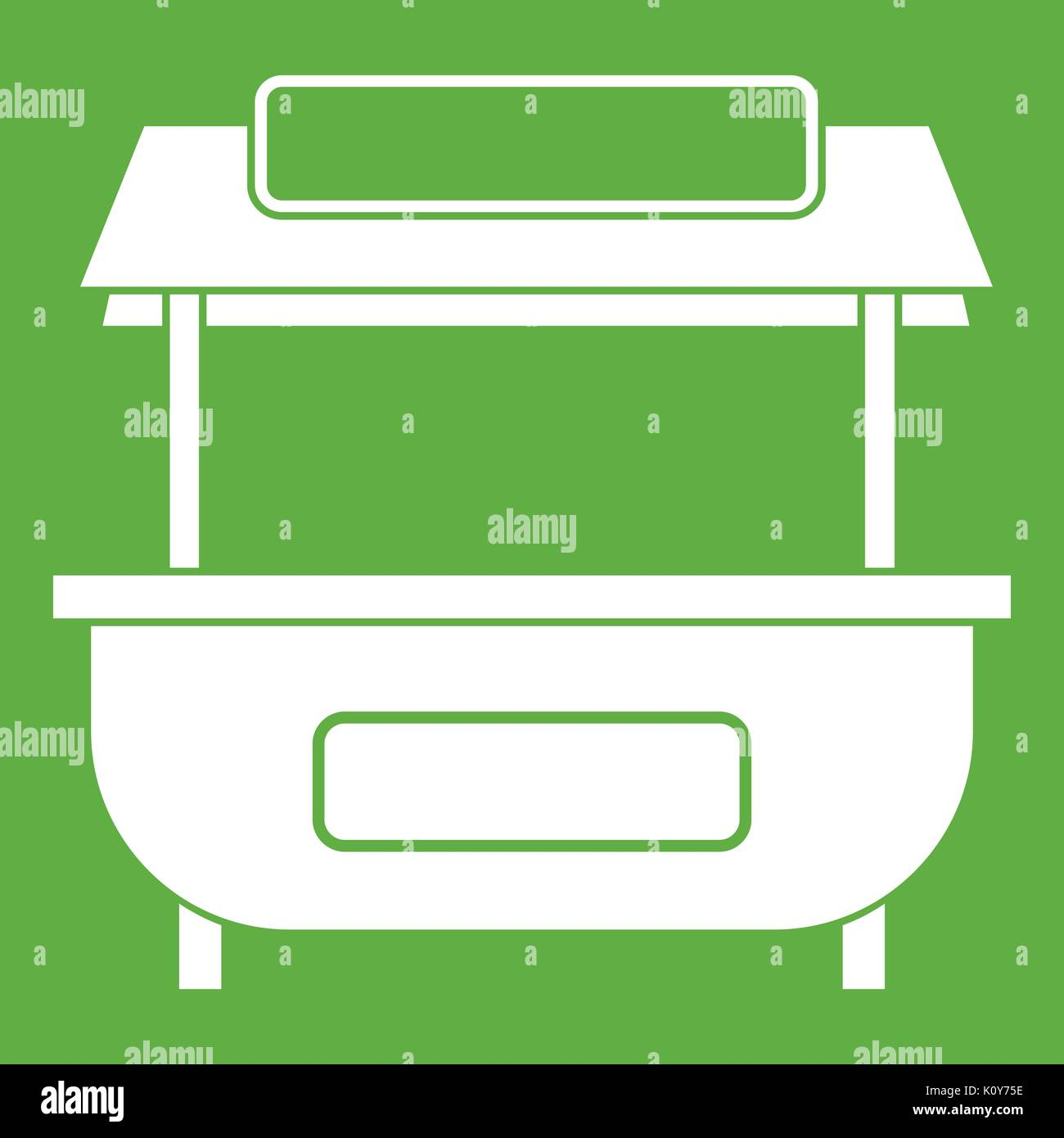Empty counter with canopy icon green  sc 1 st  Alamy & Empty counter with canopy icon green Stock Vector Art ...