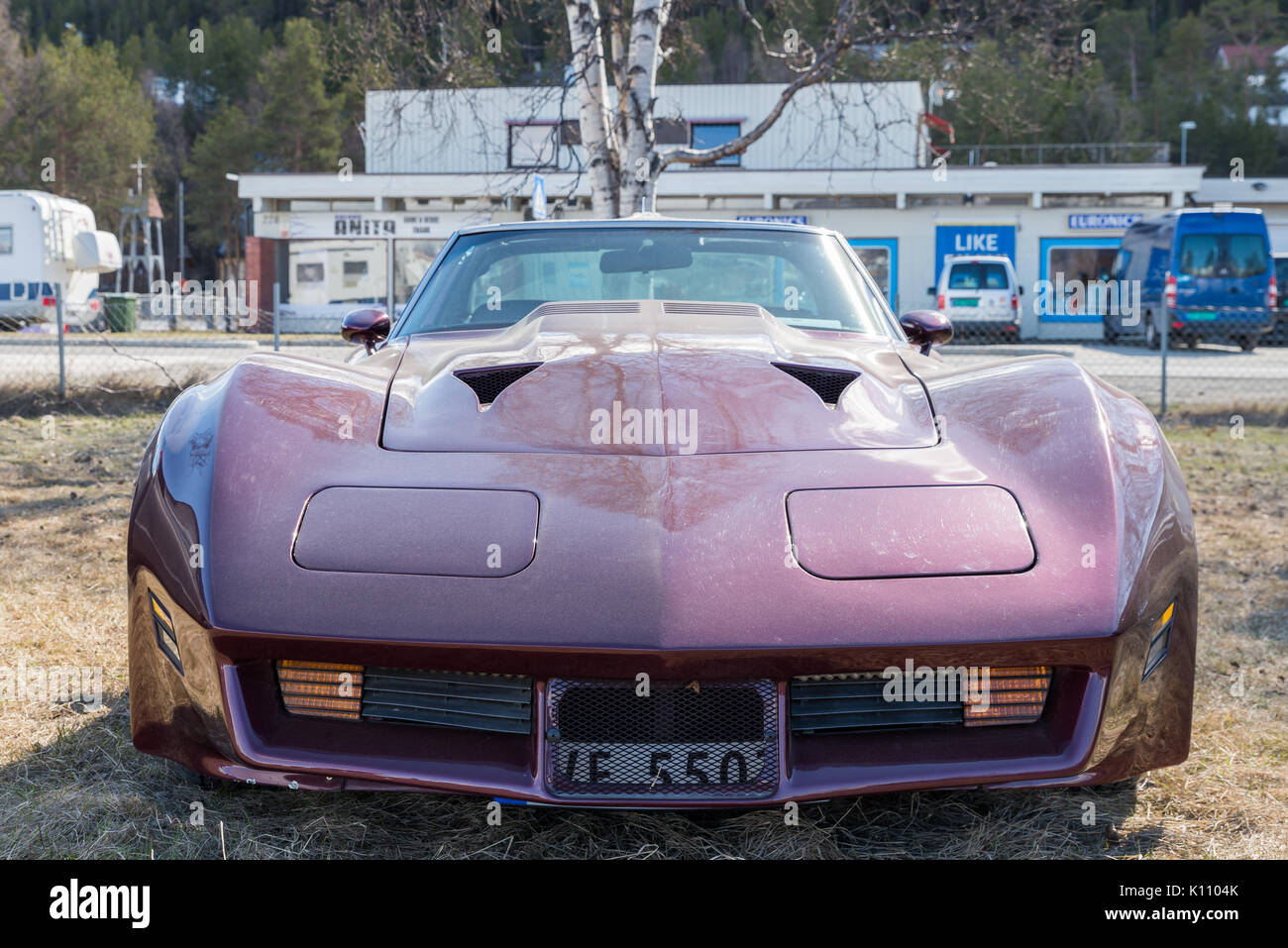 Chevrolet, Corvette, old, classic, American, muscle, car Stock ...