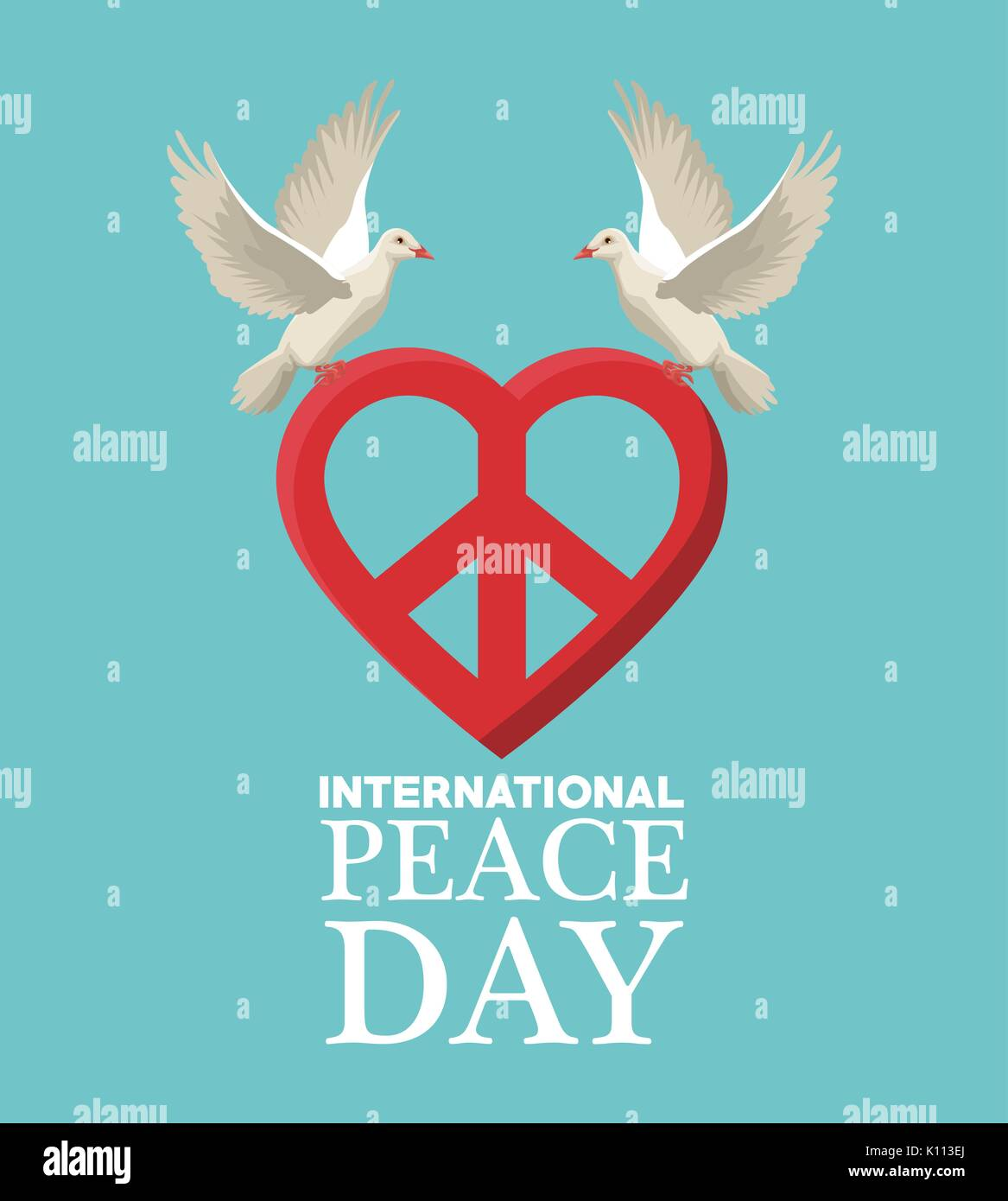 Color poster pair pigeons flying with heart shape peace and love color poster pair pigeons flying with heart shape peace and love symbol biocorpaavc Images