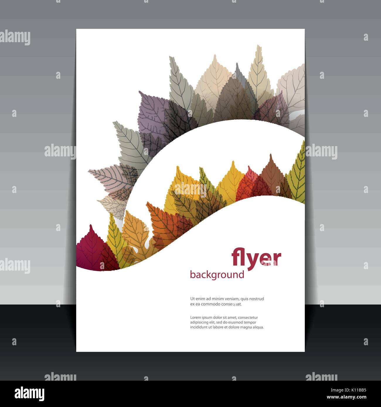 Abstract Colorful Flyer, Greeting Card or Book Cover Template with ...